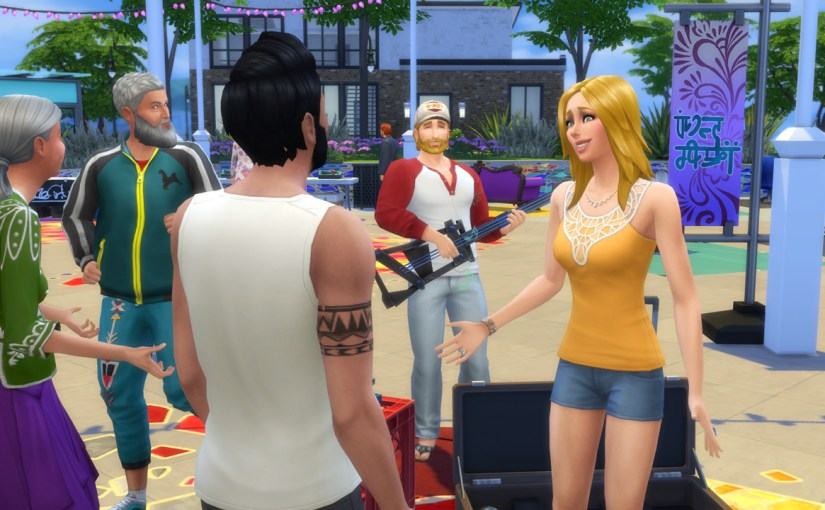 Babs invites Karim to the Flea Market to watch Steve perform music.