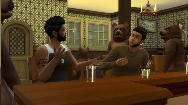Karim Al Habib and Hugh Robles go for drinks at The Shrieking Llama on Bear Night.