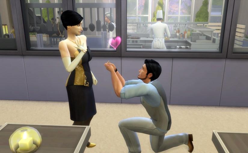 Mitchell Kalani proposes marriage to Amie Kalani at Chez Llama.