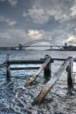 Fort Denison towards Harbour Bridge