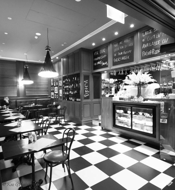 QVB cafe BW