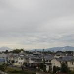雨なのに富士山が見えていた朝