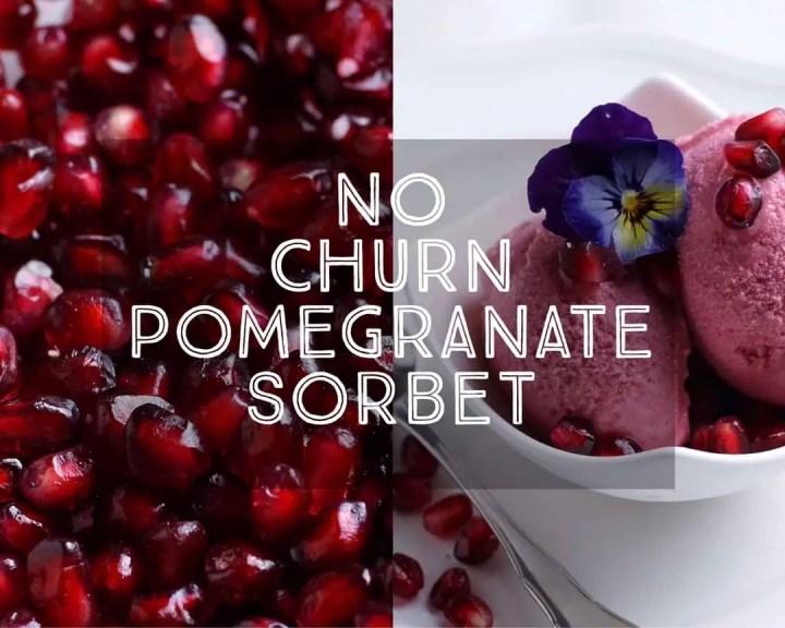 No Churn Pomegranate Sorbet