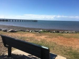 bench near the beach