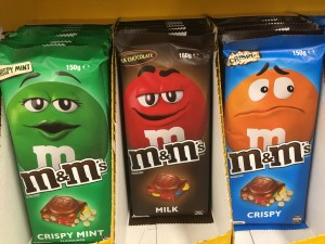M & M's bars