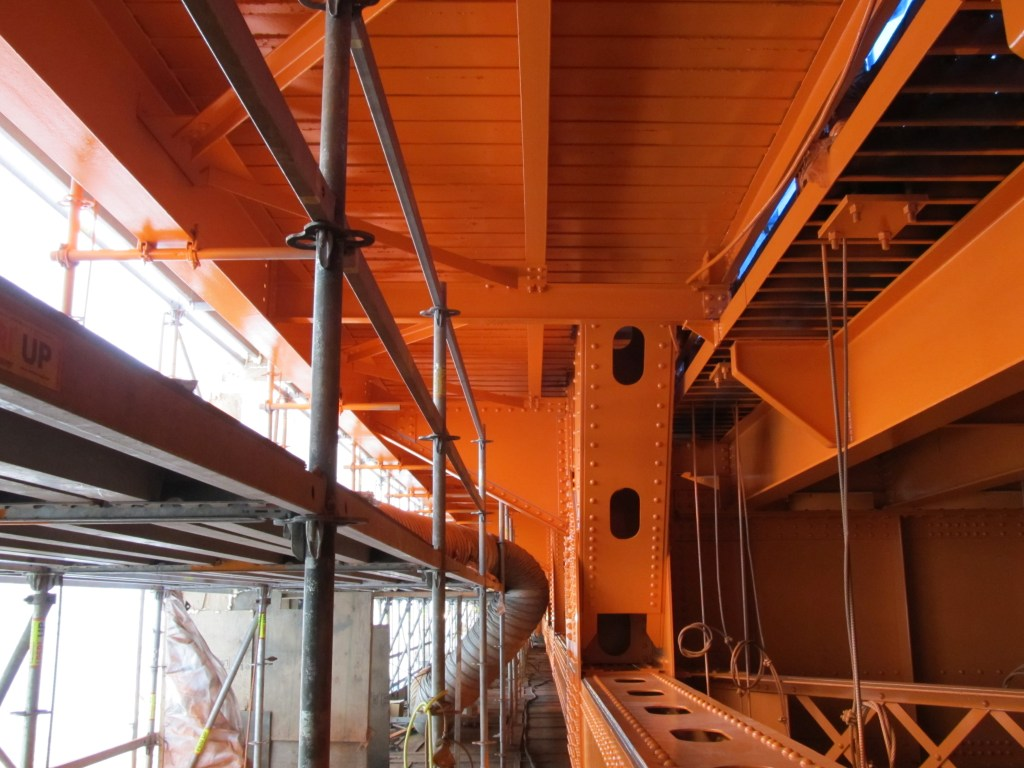 View inside Containment of finished coating system