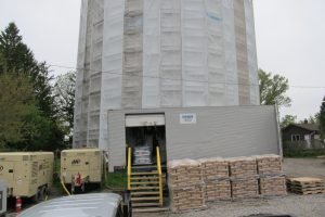 Sandblast Equipment and Fully Enclosed Tower
