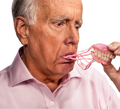 Do you suffer from loose and floppy dentures? Dental implants can be used to secure your dentures so you can eat and smile confidently!
