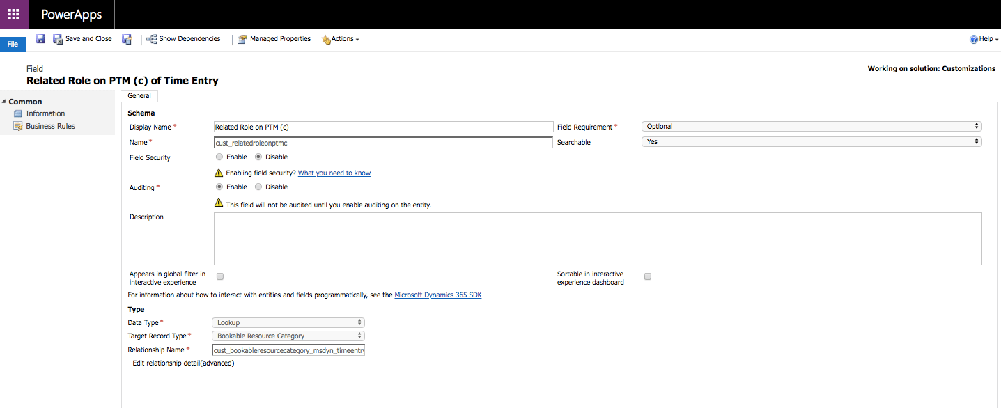 Dynamics 365 Project Service Automation: Project Team Member