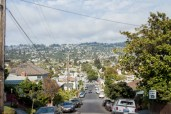 Tilt shift down Castro street