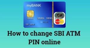 Change Sbi Atm Card Pin ThroughOnline