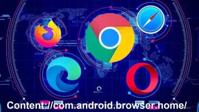 How to setup Content://com.android.browser.home/