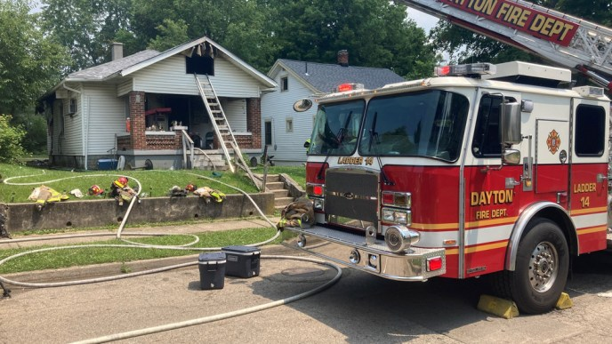 House catches fire after grilling mishap, dayton247now (image)