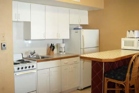 Hawaiian Inn Resort Kitchen Area