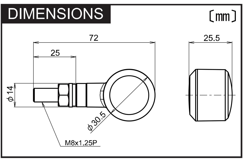 D Light Sol W 3in1 Led Indicator Pair Integr Tail Brake