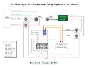 Diagram – Charger Buddy Wiring – JLD5740 Voltmeter (09212015) | Jason's Dodge Daytona EV Blog
