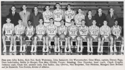 Yearbook Photo of the 1967-1967 Flyers Varsity team