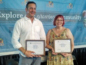 Adam Fried and Kathleen Hanover at the Ohio Signature Food Contest 2016 Awards Presentation