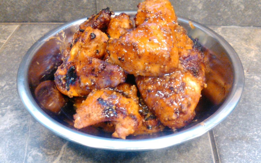 Whiskey Mustard Tiki Hot Wings Recipe