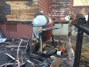 Kaden's Kamado after the fire
