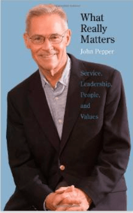 """Screen shot of the cover of John Pepper's book, """"What really matters"""""""