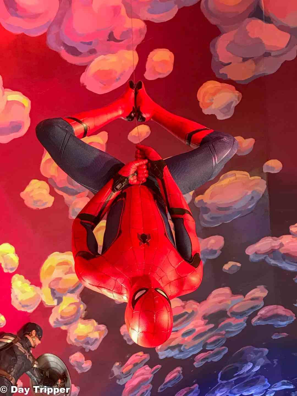 Spider man just hanging around.
