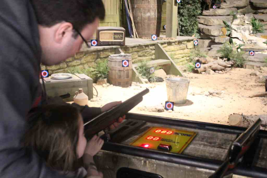 Shooting Arcade upstairs at Cabella's