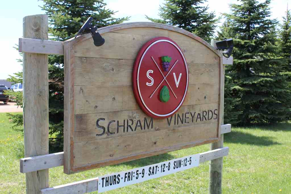 Schram Vineyard And Brewery Sign
