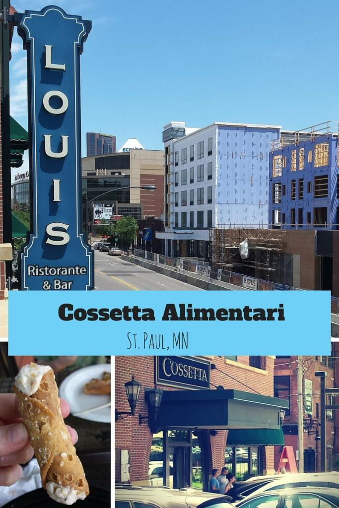 Looking for food near the Xcel Center or the Science Museum. Try Cossetta's Old World Italian in St. Paul. They have the Best Cannolis!