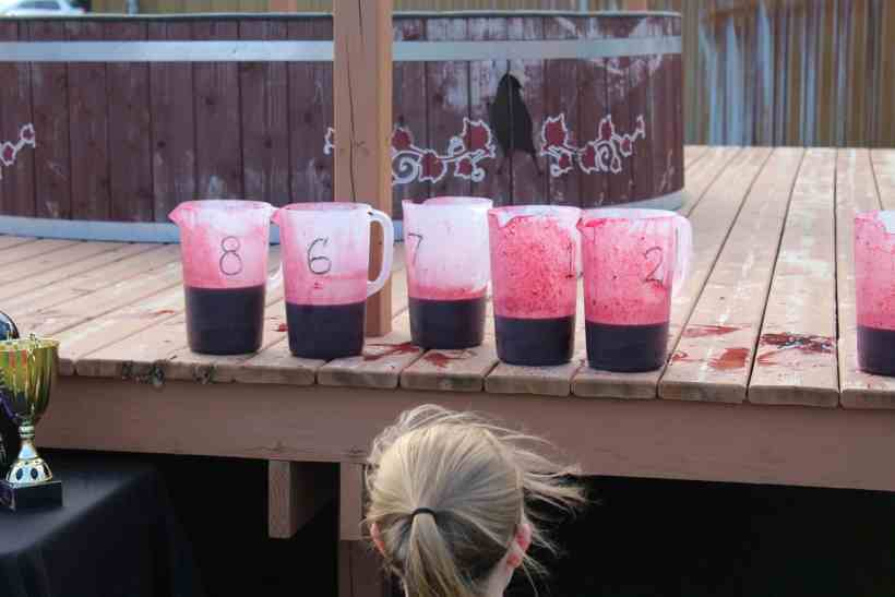 Amount of Juice Collected from Grape Stomp at Crow River Winery in Hutchinson MN.