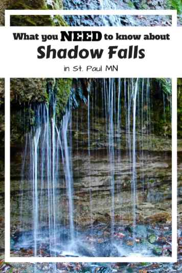 Getting to Shadow Falls in St. Paul is just part of the fun. Make sure you prepared for this hike!