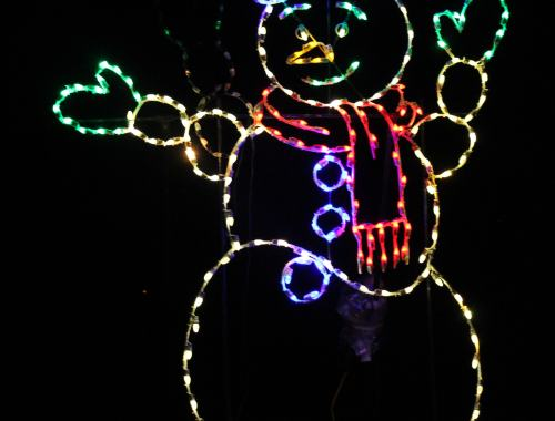 Holiday Lights in the Park Snowman