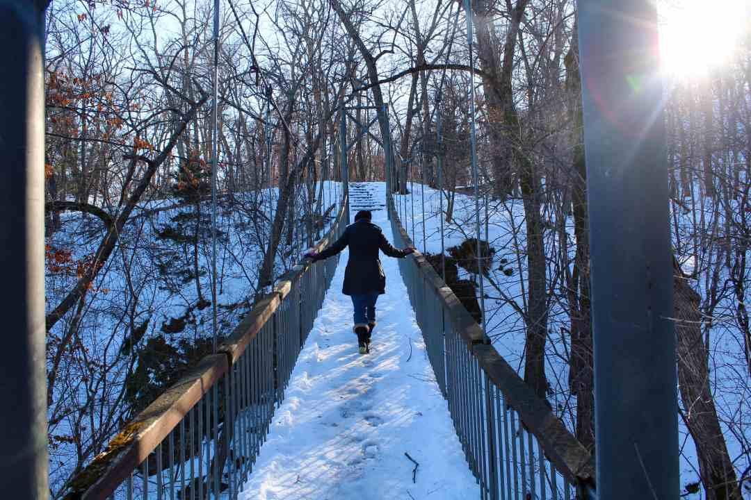 Swinging Bridge at Alexander Ramsey Park