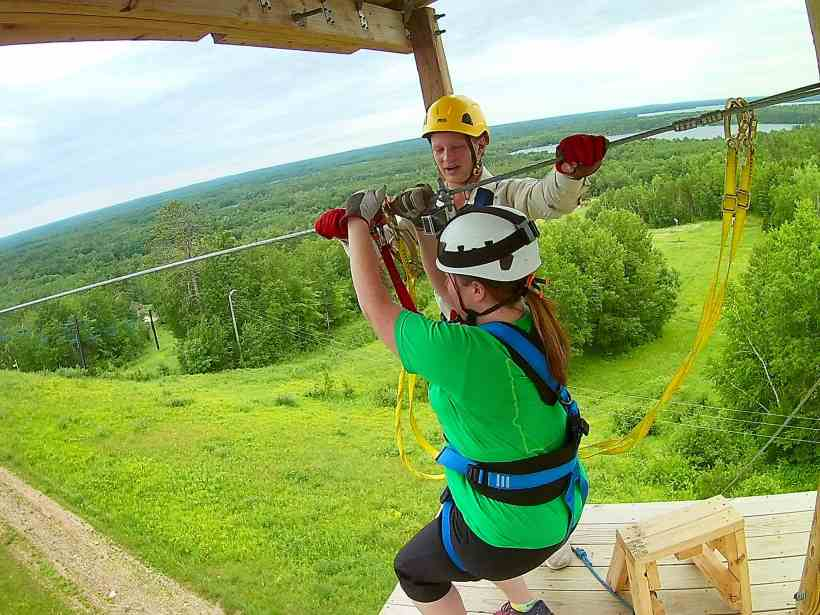 Ready Set Zip at Minnesota Zipline Adventures in Brainerd