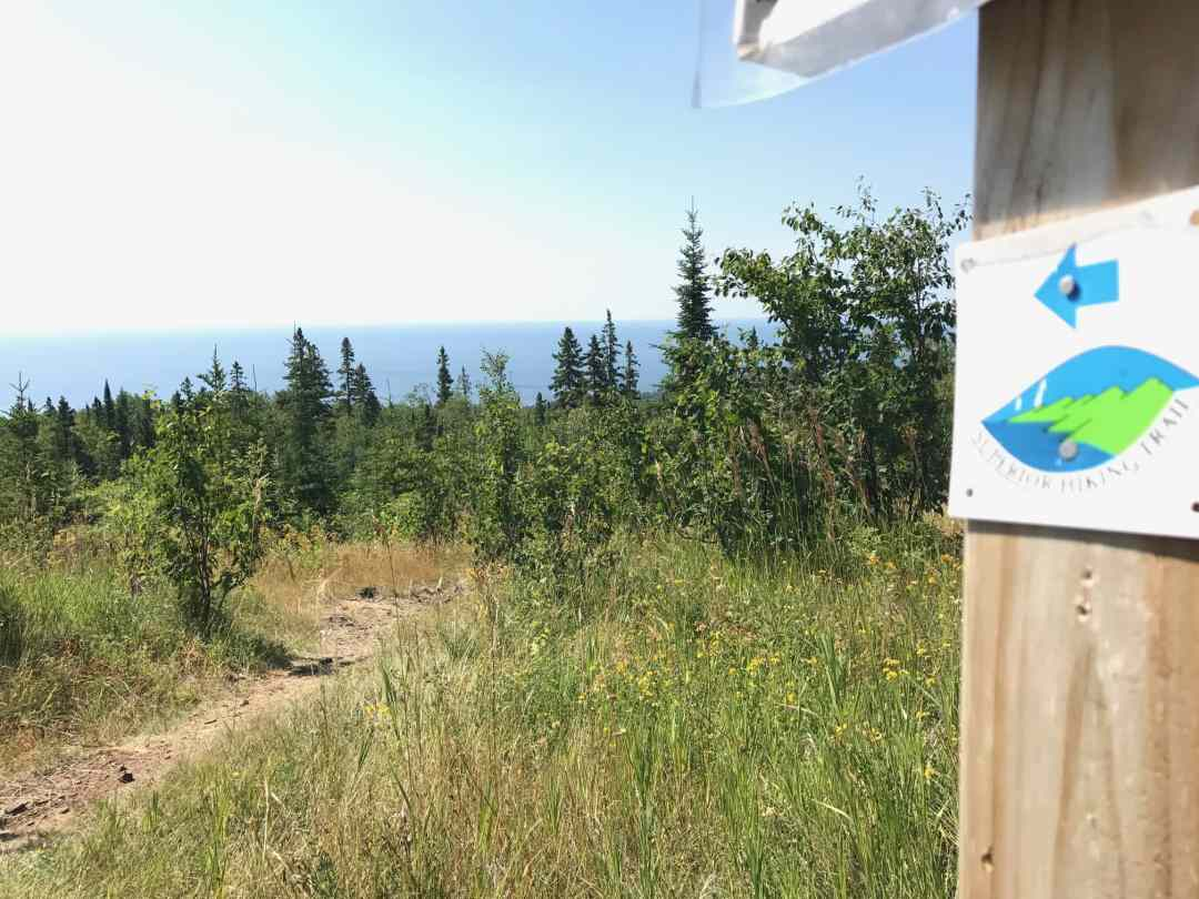 The Superior Hiking Trail Route Marker