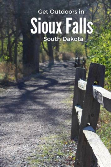 Hiking around Sioux Falls. They have plenty to do all year round.
