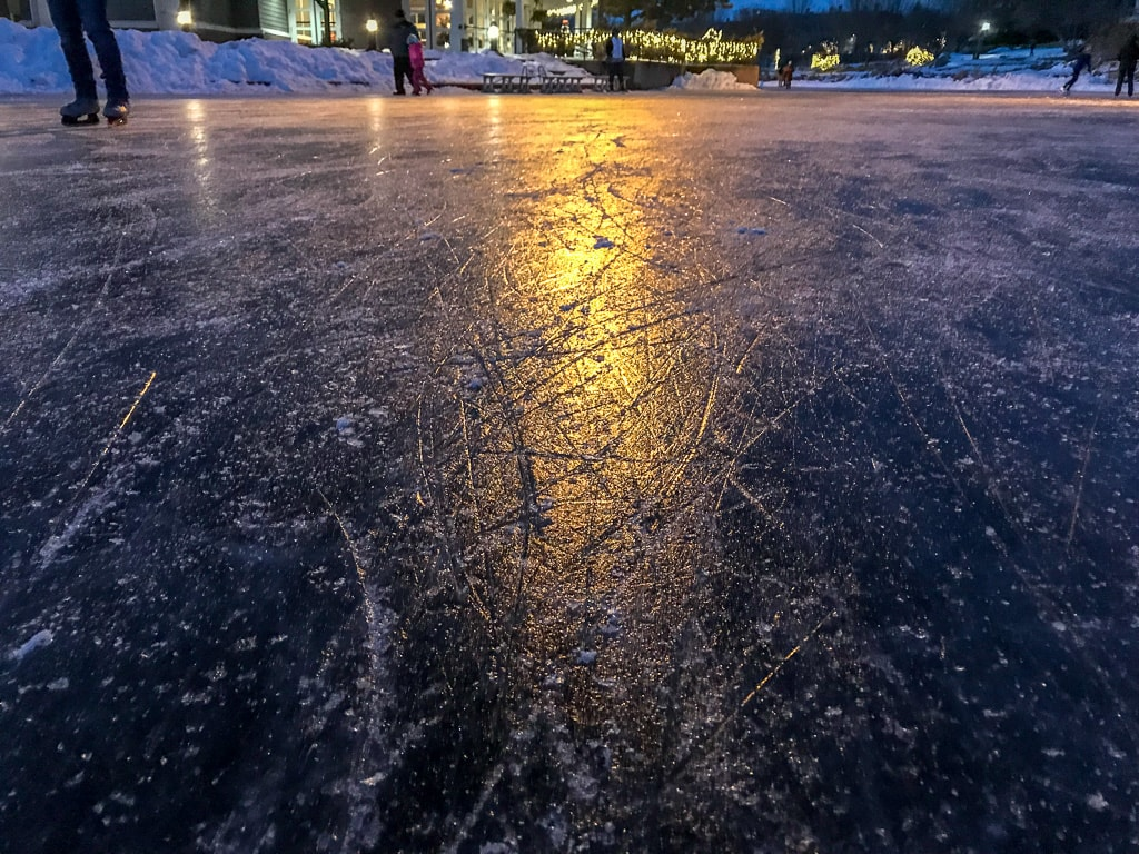 Centennial Lakes Ice Skating in MN