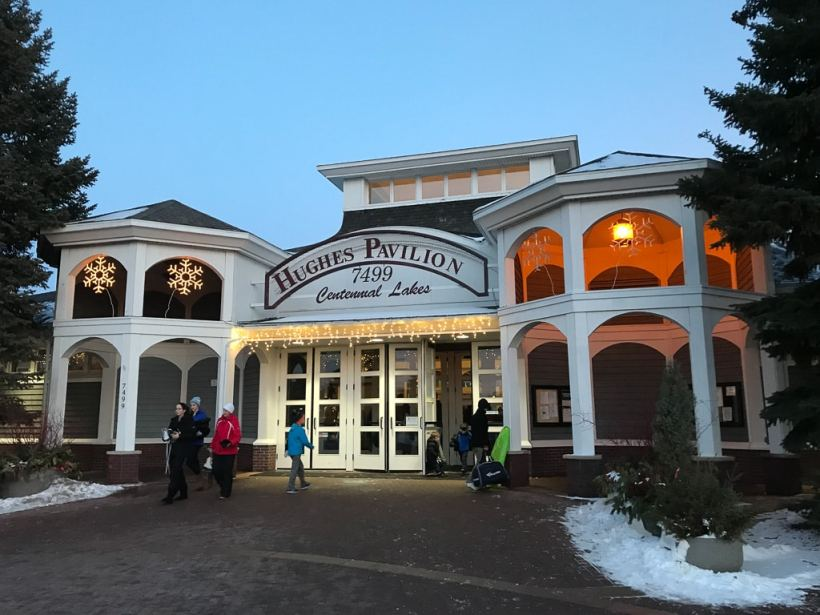 Warming up at Centennial Lakes Park Ice rink