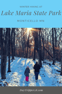 Winter Hiking at Lake Maria State Park in Montecello MN. The perfect winter hiking trail.