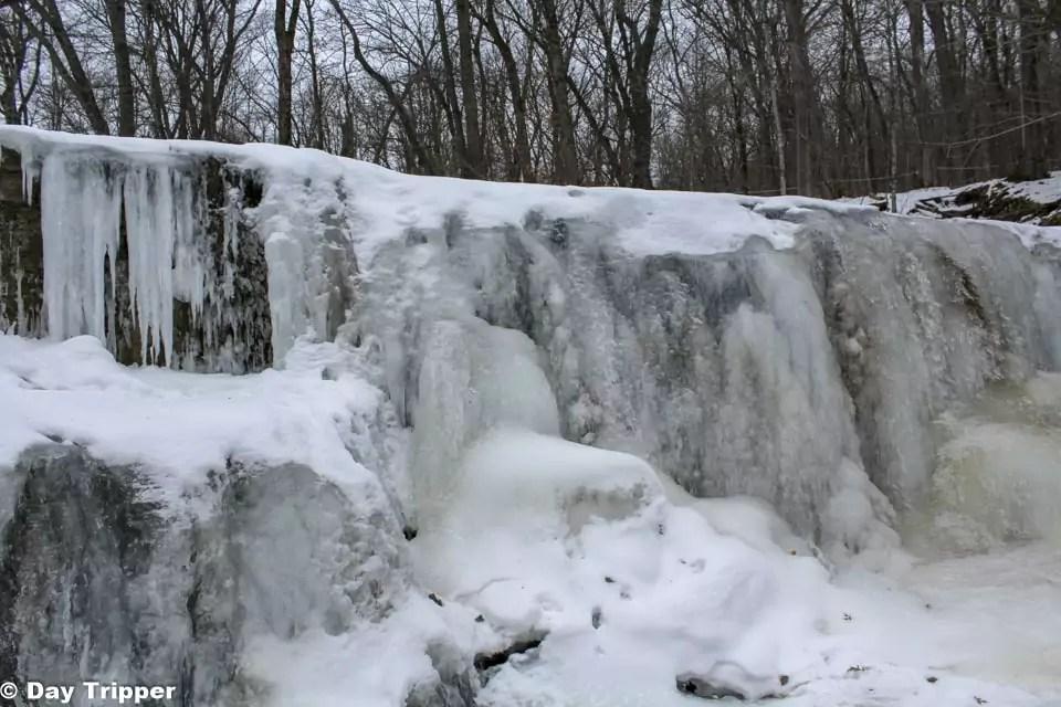 Frozen Hidden Falls Waterfall