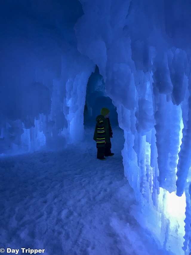 The Ice Tunnels at the Ice Castle in Excelsior