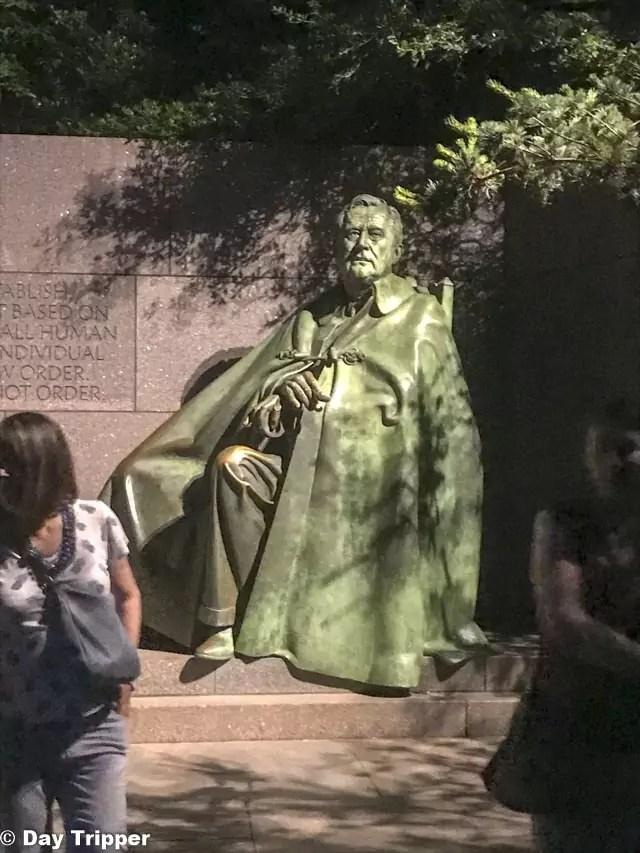The FDR Memorial at night