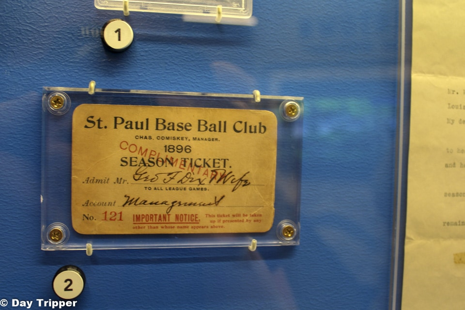 The St Paul Baseball Club card