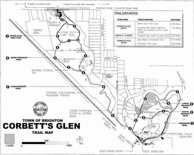 Corbett's Glen Nature Park Trail Map