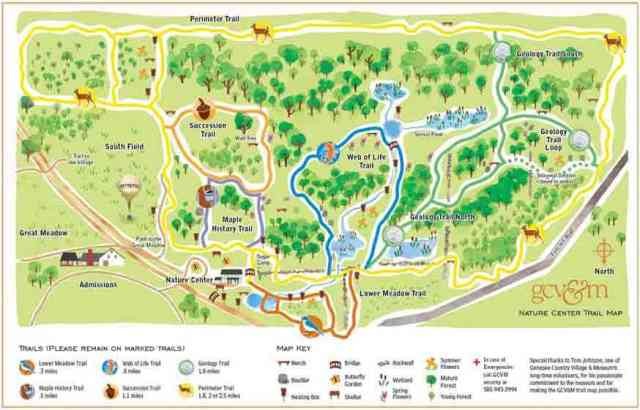 Genesee Country Village and Museum trail map