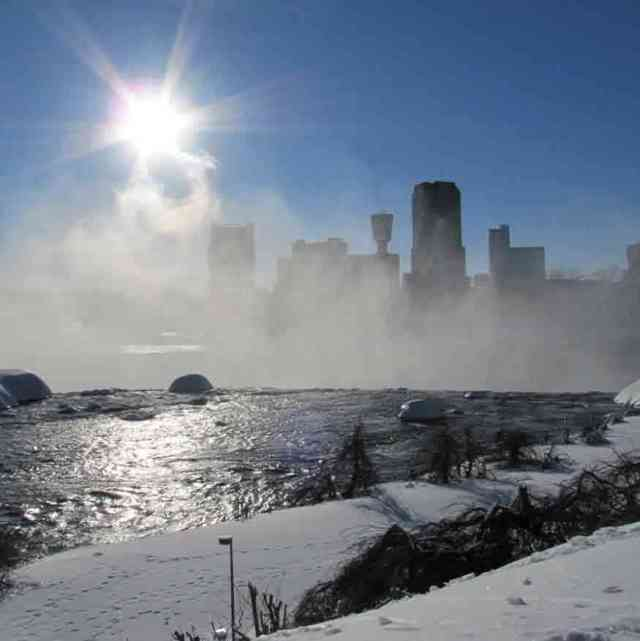 Niagara Falls Winter NY USA Horseshoe Falls