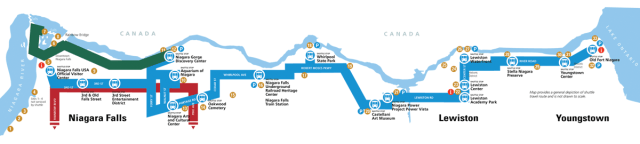 Discover Niagara Shuttle Map