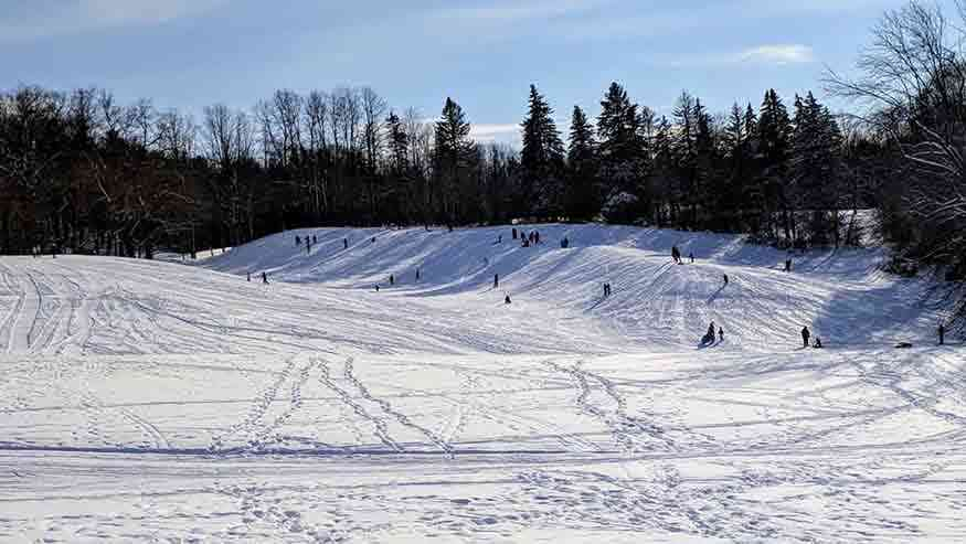 Sledding Hills Around Rochester: Mendon Ponds Park Monroe County Sledding