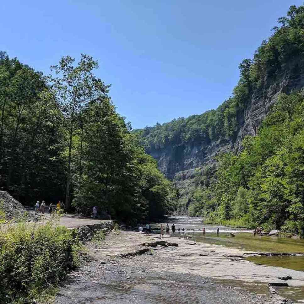 Natural Swimming Area Taughannock Falls Creek
