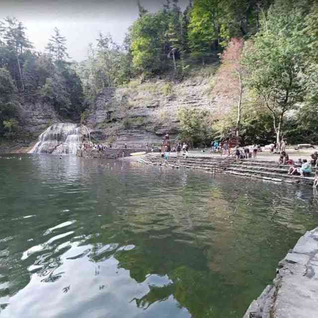 Robert Treman pool Enfield Falls